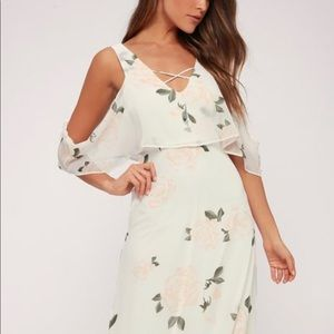 Lulu's The Thought of You Floral Maxi Dress